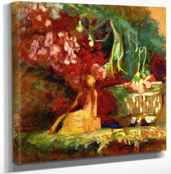 Carnations And Statuette By Edouard Vuillard Art Reproduction