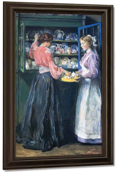 The China Closet By Gari Melchers