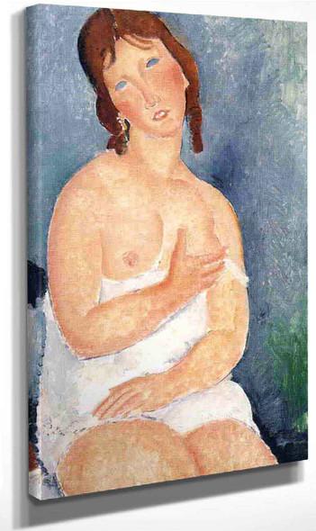 The Dairymaid By Amedeo Modigliani By Amedeo Modigliani