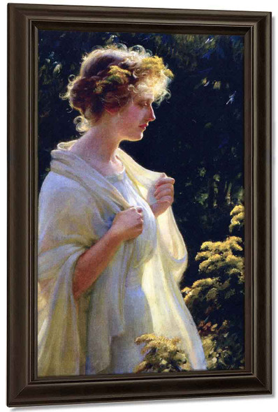 The Golden Profile By Charles Courtney Curran By Charles Courtney Curran