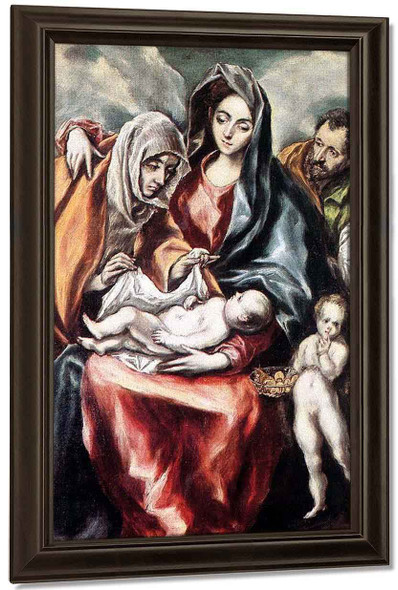 The Holy Family1 By El Greco By El Greco
