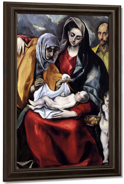 The Holy Family2 By El Greco By El Greco