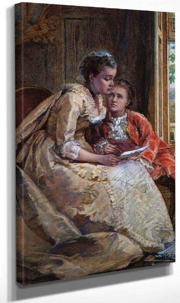 The Letter By George Goodwin Kilburne By George Goodwin Kilburne