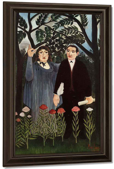 The Muse Inspiring The Poet By Henri Rousseau