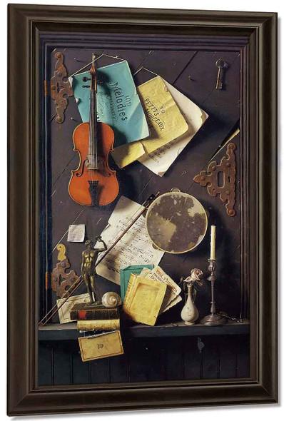 The Old Cupboard Door By William Michael Harnett By William Michael Harnett
