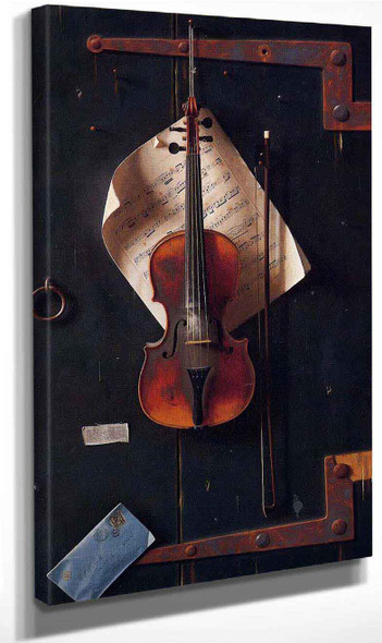The Old Violin By William Michael Harnett By William Michael Harnett