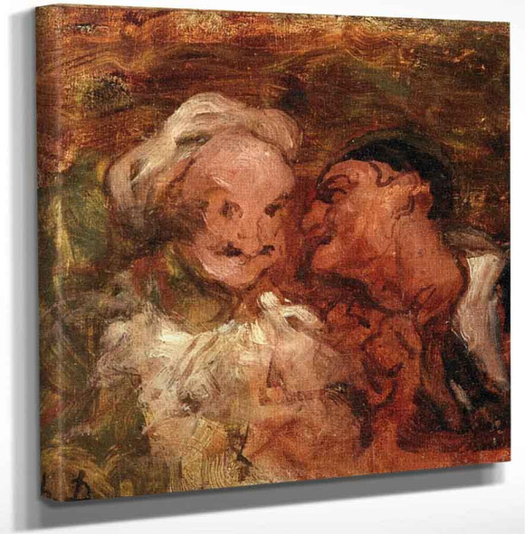 Crespin And Silvestre By Honore Daumier Art Reproduction