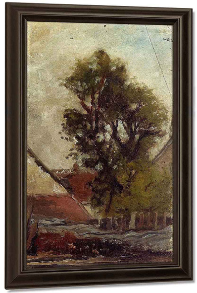 The Tree In The Farm Yard By Paul Gauguin By Paul Gauguin