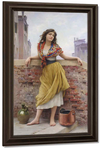 The Watercarrier By Eugene De Blaas By Eugene De Blaas
