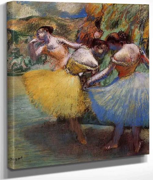Three Dancers By Edgar Degas By Edgar Degas