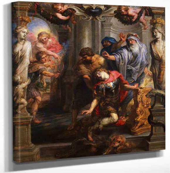 Death Of Achilles By Peter Paul Rubens Art Reproduction