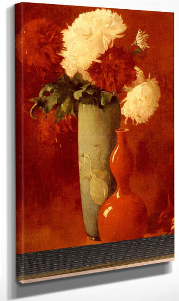 Vase And Flowers By Emil Carlsen By Emil Carlsen