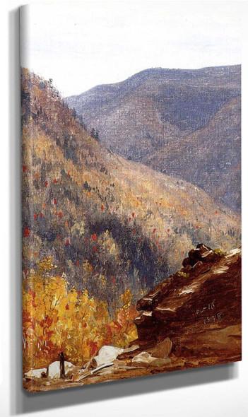View Near Kauterskill Clove By Sanford Robinson Gifford By Sanford Robinson Gifford