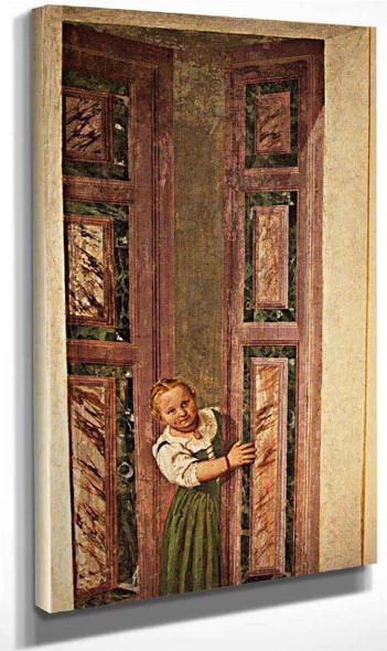 Villa Barbaro Girl In The Doorway By Paolo Veronese