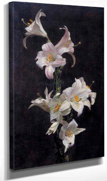 White Lilies By Henri Fantin Latour By Henri Fantin Latour