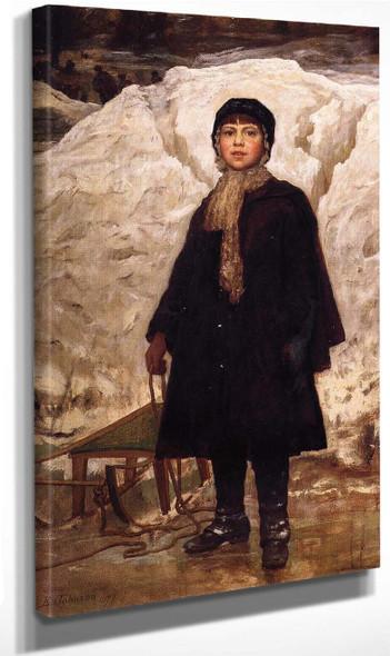 Winter Scene, Olana By Frederic Edwin Church Art Reproduction