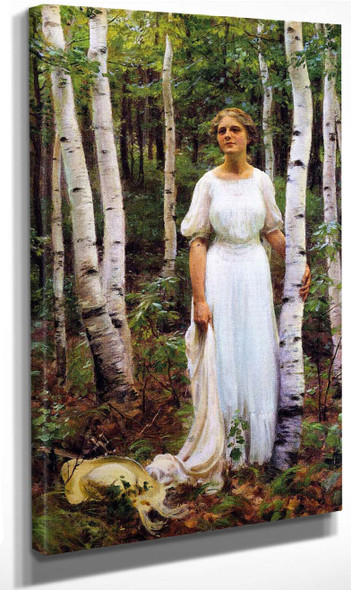 Woodland Solitude By Charles Courtney Curran By Charles Courtney Curran