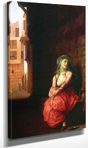 Young Arab Woman With Waterpipe By Jean Leon Gerome By Jean Leon Gerome
