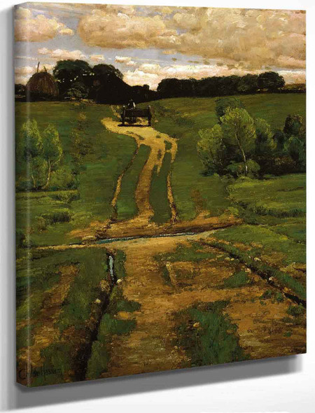 A Back Road By Frederick Childe Hassam By Frederick Childe Hassam