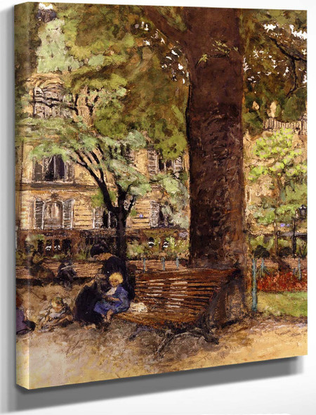 A Bench, Square Vintimille By Edouard Vuillard