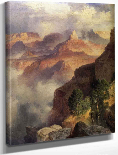 A Bit Of The Grand Canyon Grand Canyon Of The Colorado River By Thomas Moran By Thomas Moran