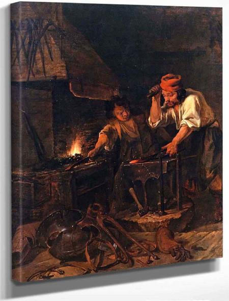 A Blacksmith At Work By Gabriel Metsu