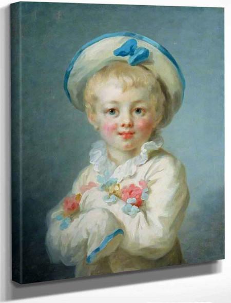 A Boy As Pierrot By Jean Honore Fragonard By Jean Honore Fragonard