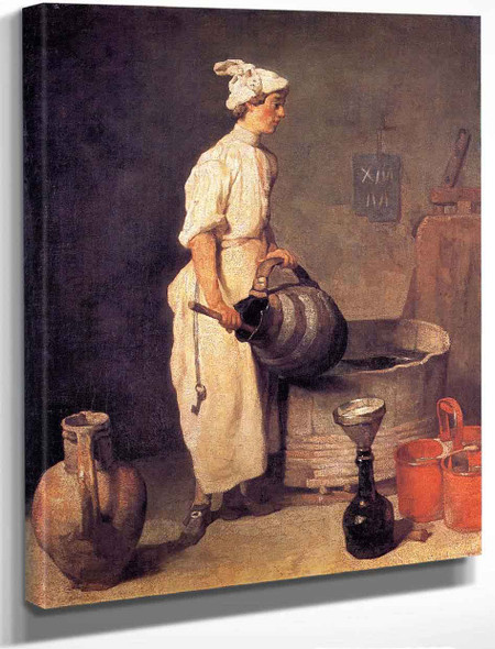 A Cellar Boy Cleaning A Large Jug By Jean Baptiste Simeon Chardin By Jean Baptiste Simeon Chardin