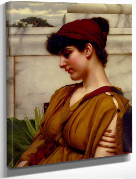 A Classical Beauty In Profile By John William Godward By John William Godward