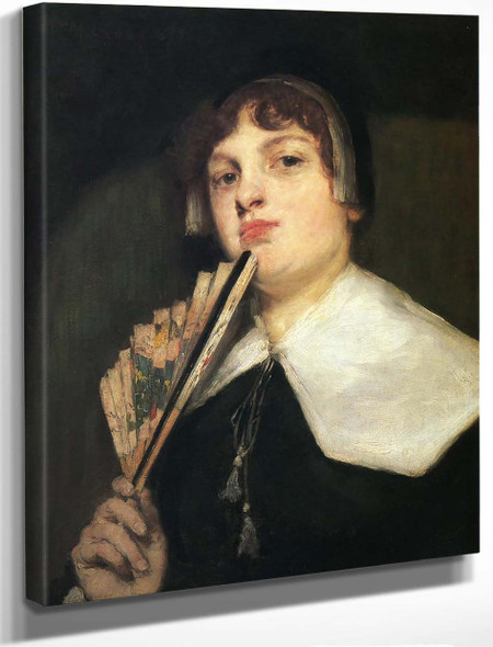 A Coquette 1835 By William Merritt Chase By William Merritt Chase