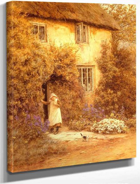 A Cottage Door By Helen Allingham By Helen Allingham