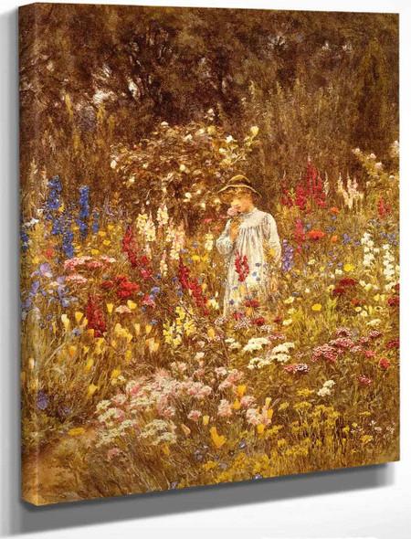 A Cottage Garden By Helen Allingham By Helen Allingham