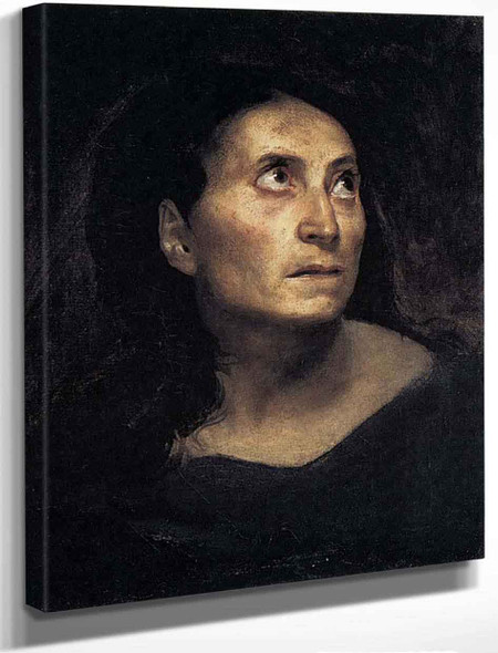 A Mad Woman By Eugene Delacroix By Eugene Delacroix