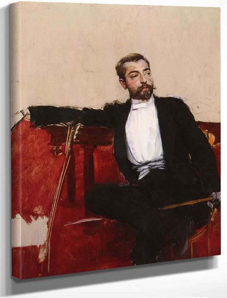 A Portrait Of John Singer Sargent By Giovanni Boldini By Giovanni Boldini