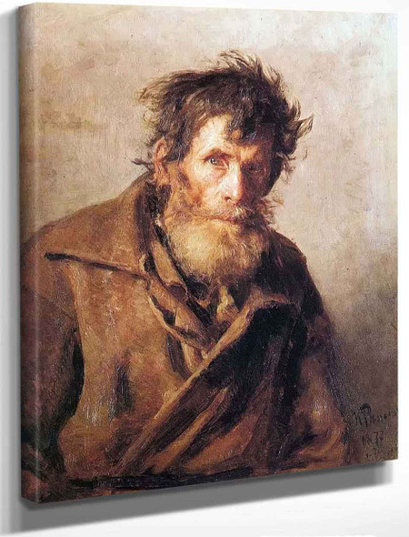 A Shy Peasant. By Ilia Efimovich Repin By Ilia Efimovich Repin