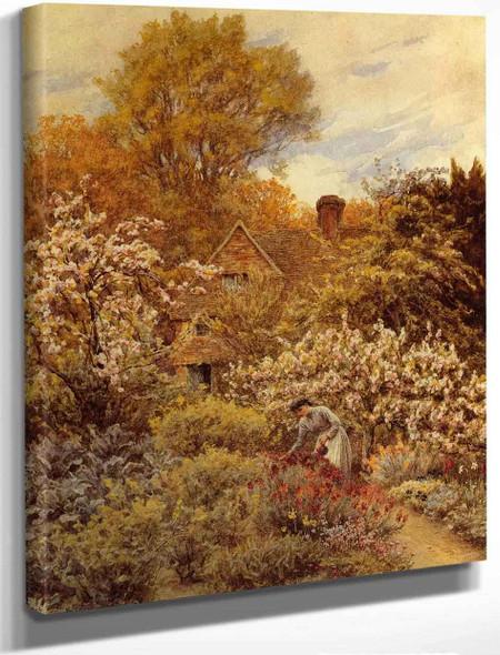 A Spring Garden By Helen Allingham By Helen Allingham