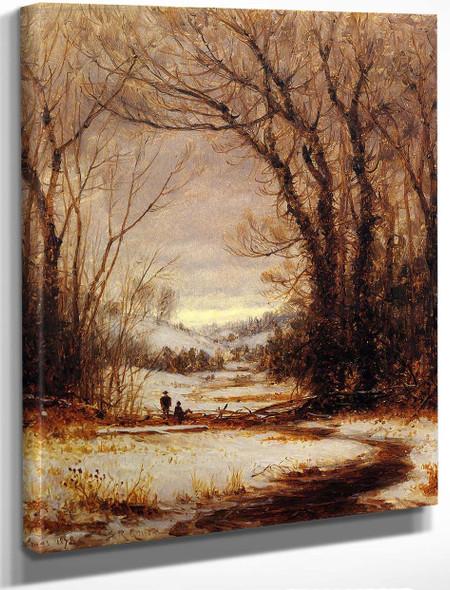 A Winter Walk By Sanford Robinson Gifford By Sanford Robinson Gifford