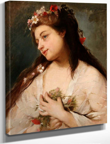 A Young Beauty By Madeleine Jeanne Lemaire