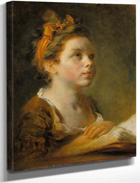 A Young Scholar By Jean Honore Fragonard By Jean Honore Fragonard