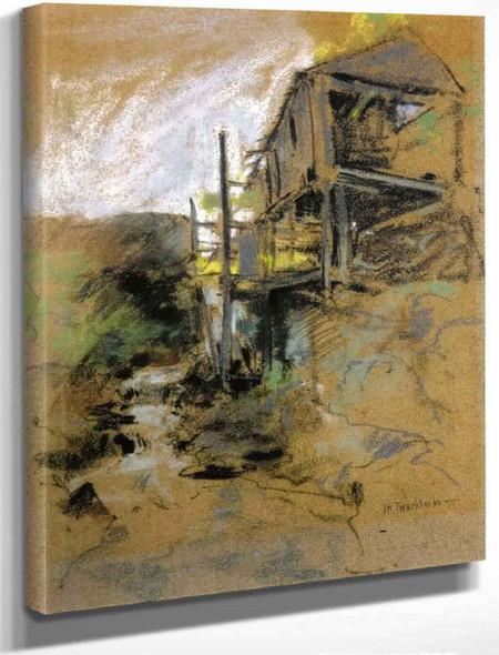 Abandoned Mill Branchville, Connecticut By John Twachtman