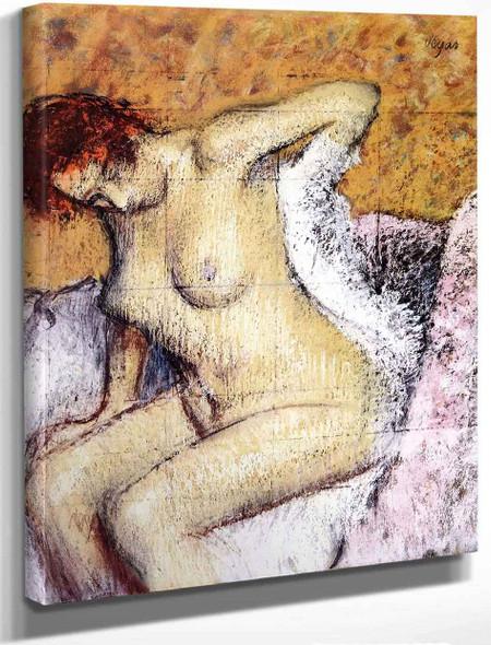 After The Bath5 By Edgar Degas By Edgar Degas
