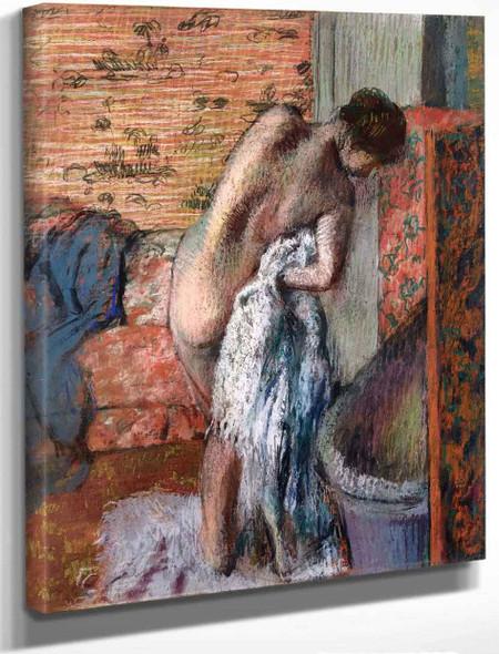 After The Bath9 By Edgar Degas By Edgar Degas