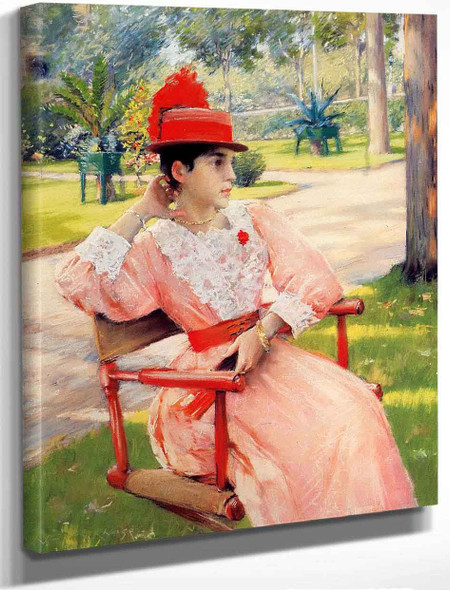 Afternoon In The Park By William Merritt Chase By William Merritt Chase