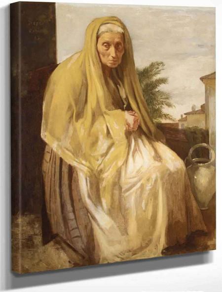 An Old Italian Woman By Edgar Degas By Edgar Degas