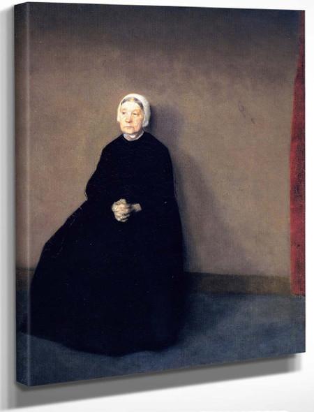 An Old Woman By Vilhelm Hammershoi By Vilhelm Hammershoi