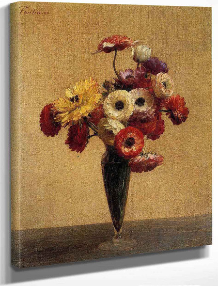 Anemones And Buttercups By Henri Fantin Latour By Henri Fantin Latour
