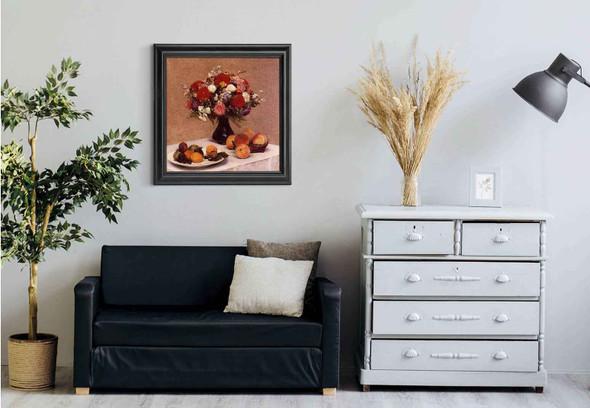 Flowers And Fruit By Henri Fantin Latour Art Reproduction