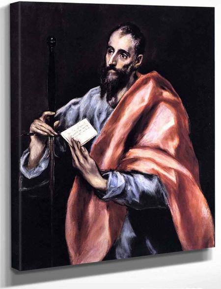 Apostle St Paul By El Greco By El Greco