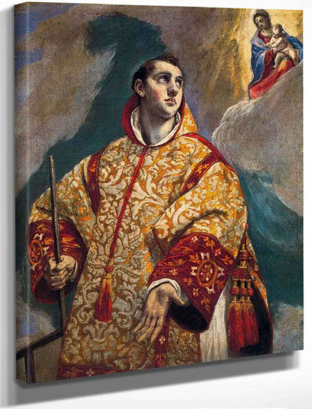 Apparition Of The Virgin To St Lawrence By El Greco By El Greco