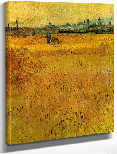 Arles View From The Wheat Fields By Vincent Van Gogh